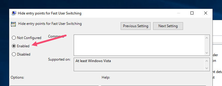 Disable fast user switching step 04