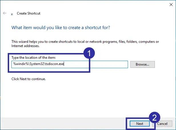 Switch user desktop shortcut step 02
