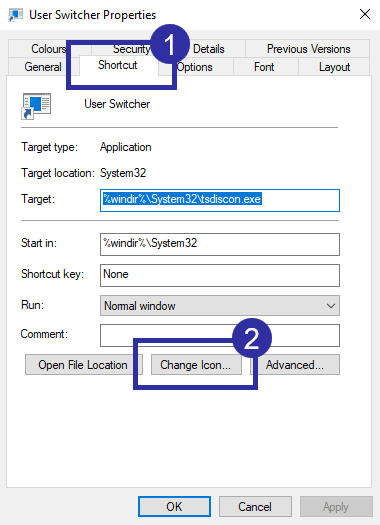 Switch user desktop shortcut step 05