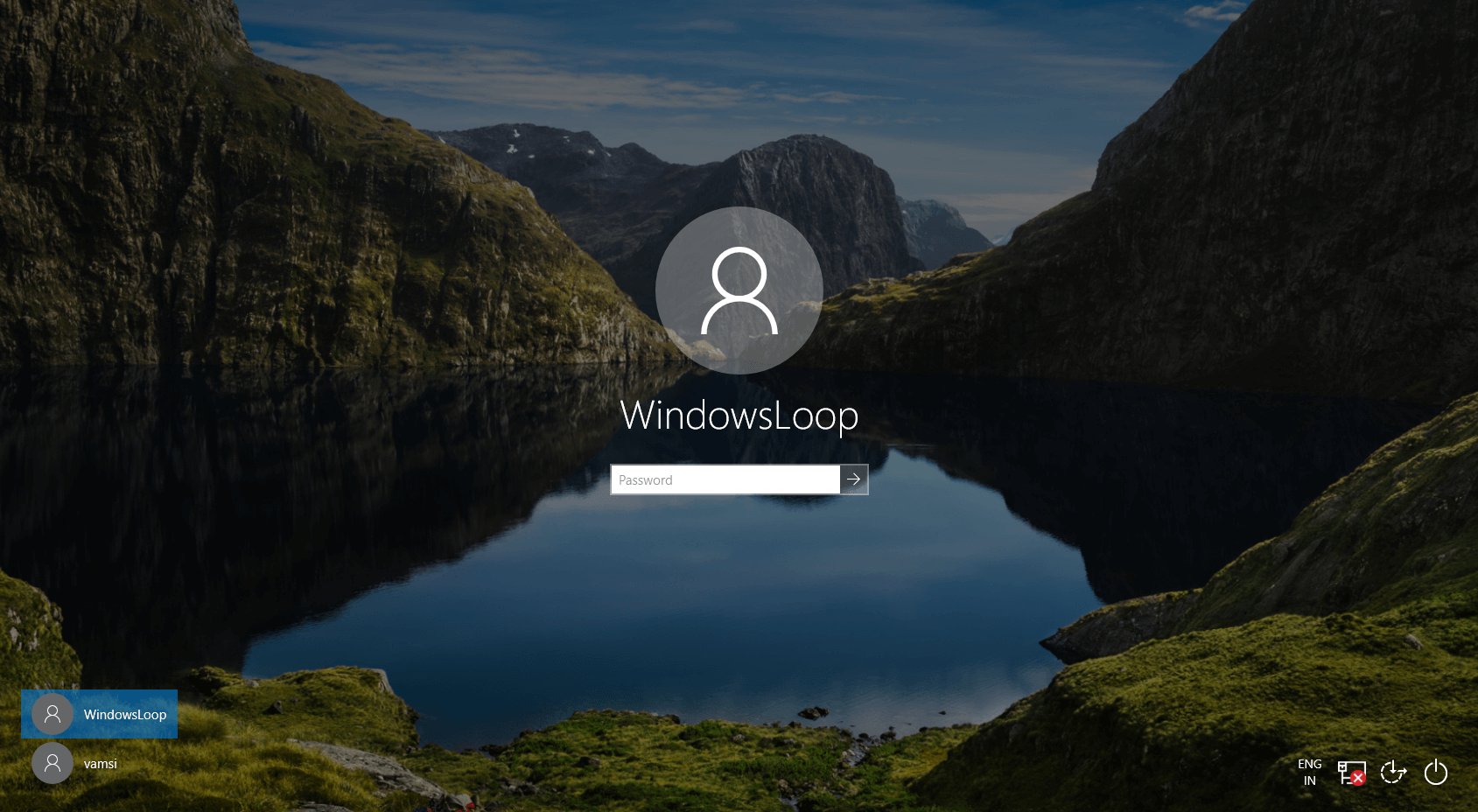 Switch user desktop shortcut step 10