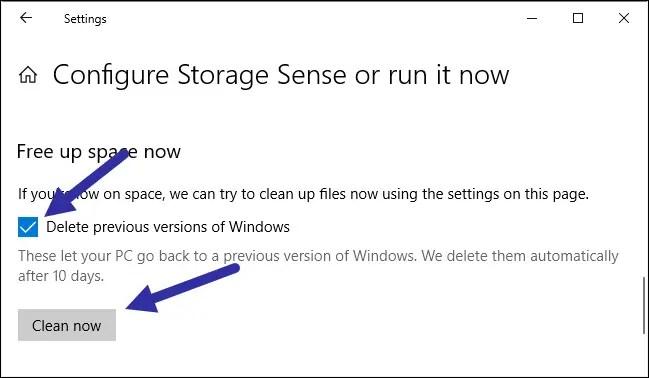 Delete previous windows installations step 02