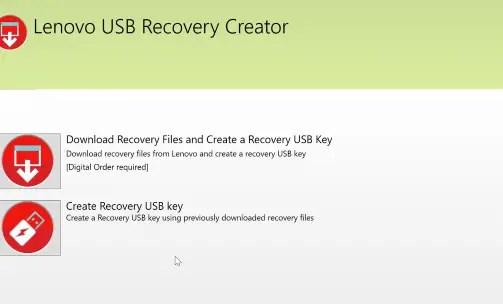 Lenovo recovery usb drive step 02