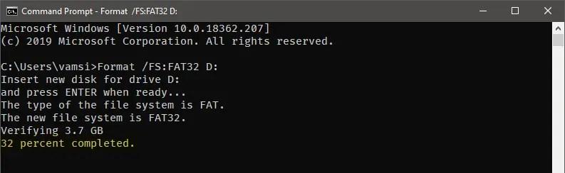 Windows 10 format in fat32 - 03