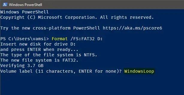 Windows 10 format in fat32 - 07