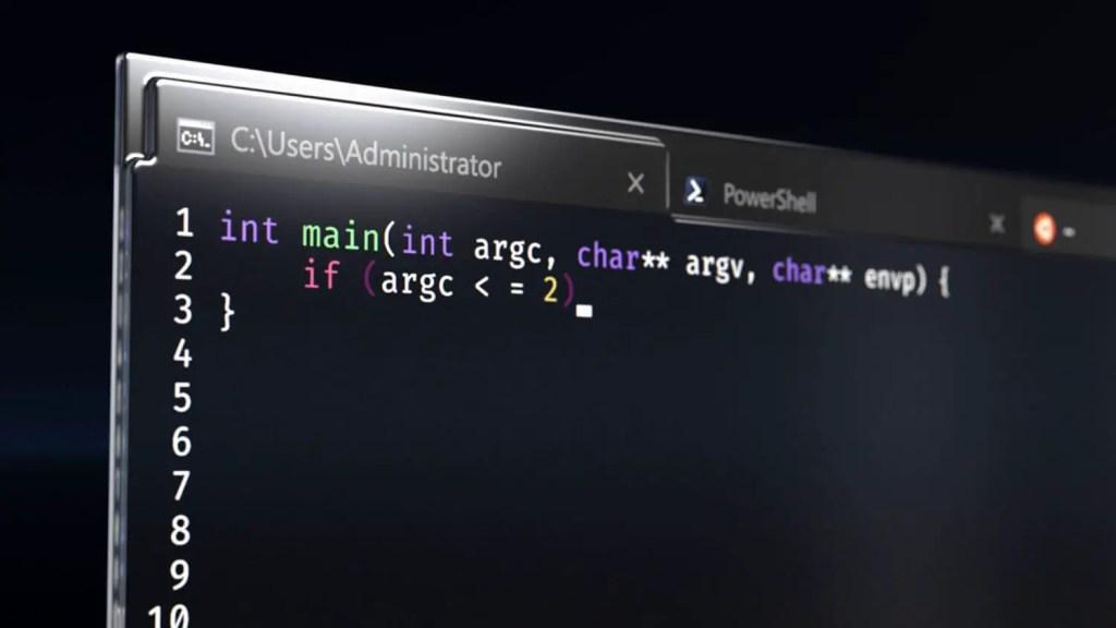 Windows terminal big