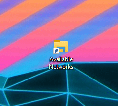Win10 available networks shortcut - shortcut created