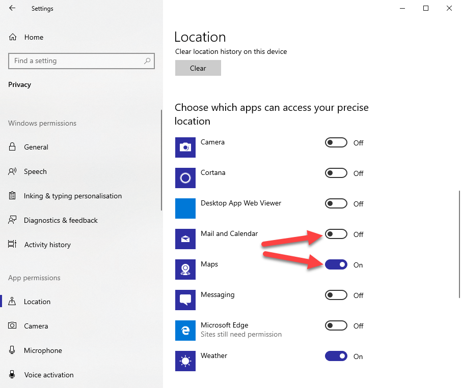 Win10 location tracking - 04 - restrict specific apps