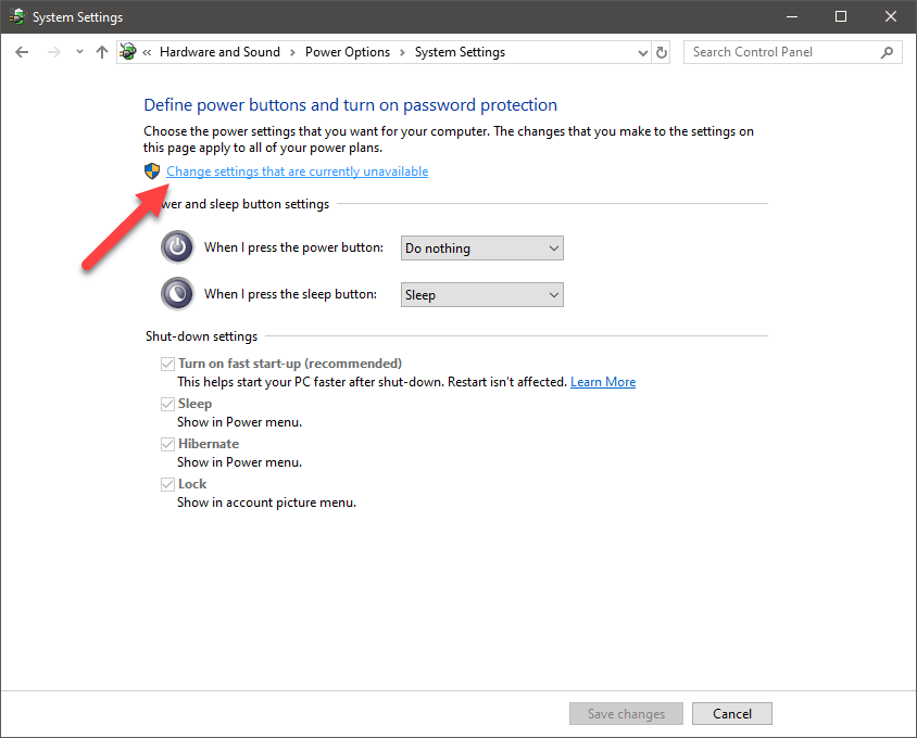Windows 10 start menu sleep option - 03 - get admin rights