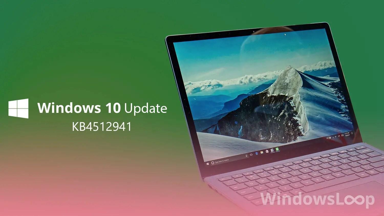Download KB4512941 Installer Windows 10 18362 329