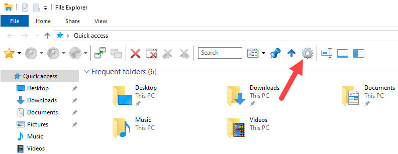 Win 10 change folder background color - click settings icon