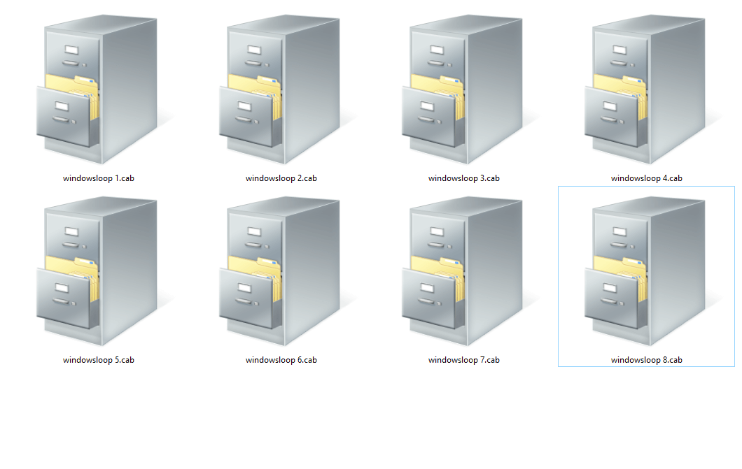 Win 10 install cab files - cab files in windows