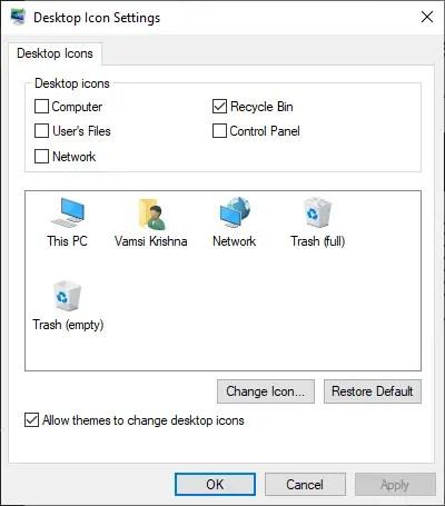 Restore-unhide-recycle-bin-windows-10-select-recycle-bin-checkbox