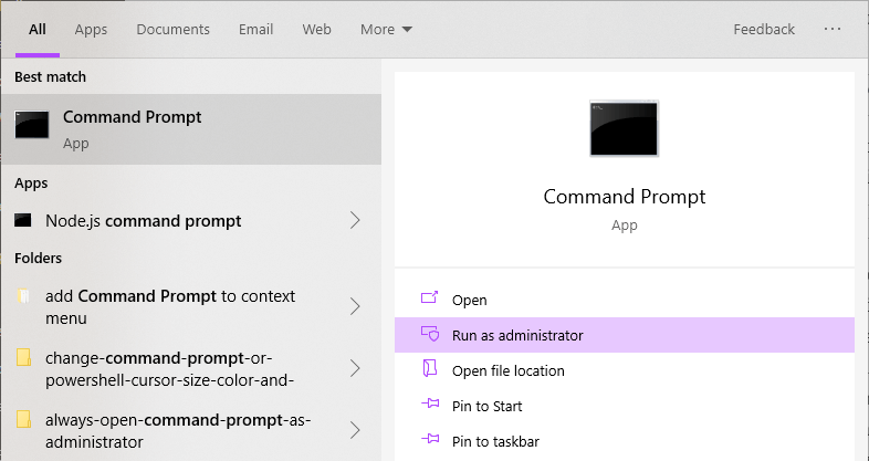 Windows-clear-thumbnail-cache-open-command-prompt-as-admin