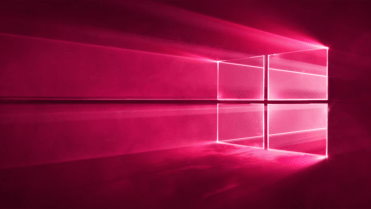 Windows 10 red wallpaper