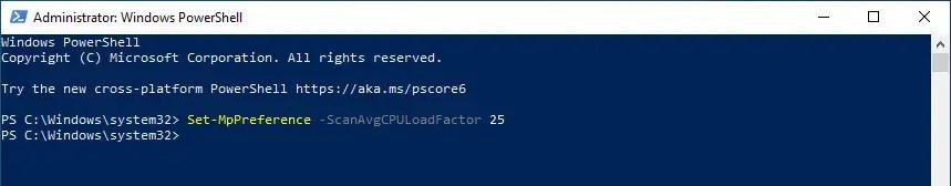 Windows-defender-cpu-usage-limit-execute-command