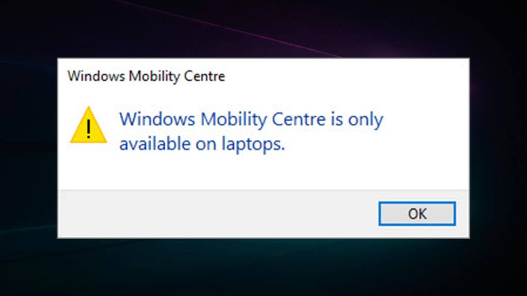 Enable-mobility-center-featured