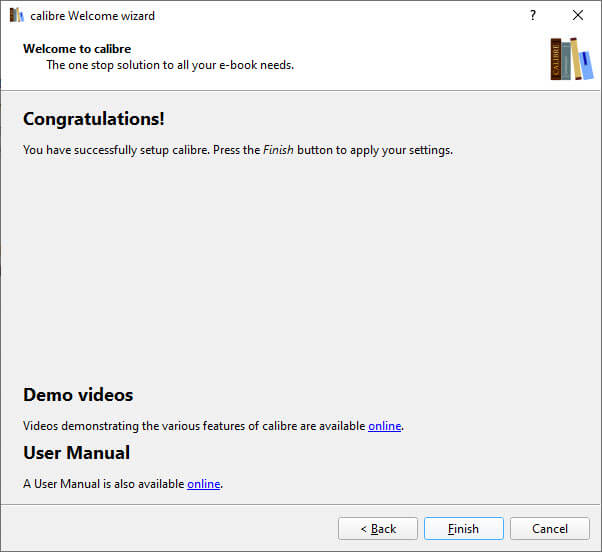 Epub to mobi windows - setup wizard