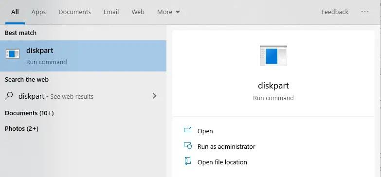 Find-file-system-open-diskpart