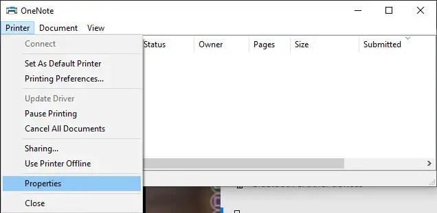 Print-history-windows-select-properties
