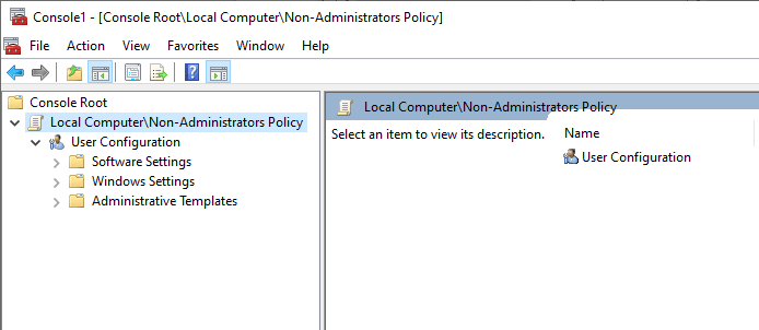 Non-administrator-group-policy-windows-snap-in-created