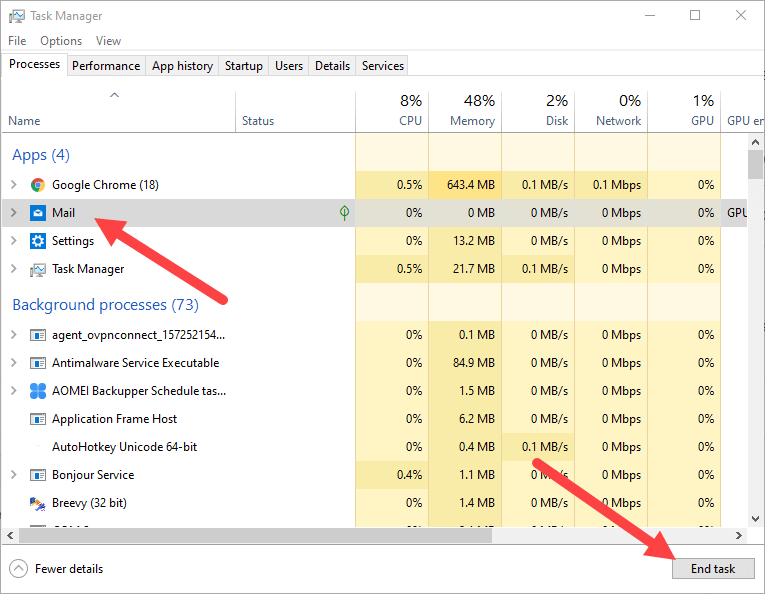 Terminate-microsoft-store-apps-windows-10-task-manager-end-task