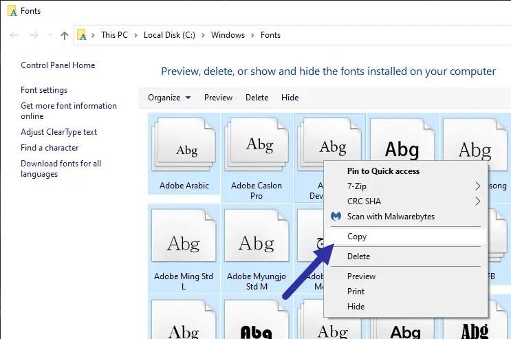 Backup-fonts-windows-fonts-folder