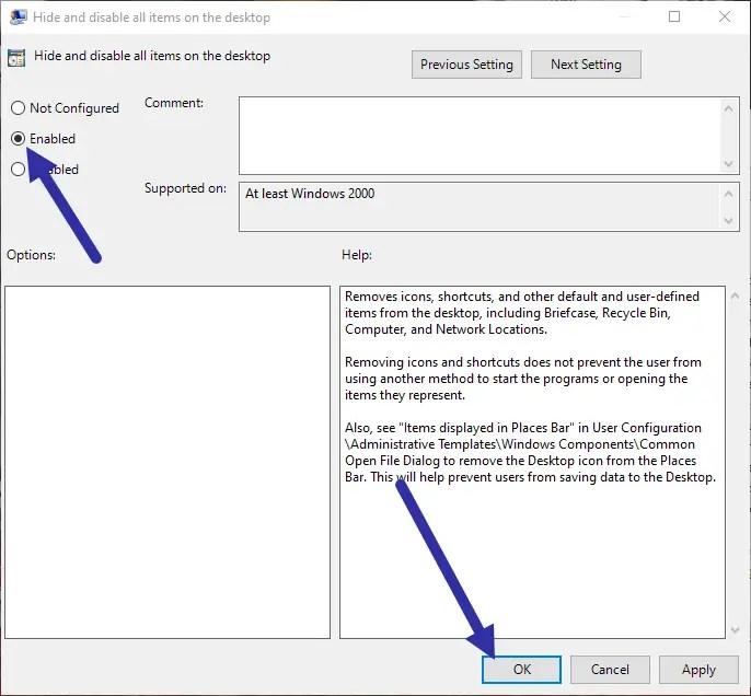 Hide-desktop-icons-windows-enable-policy