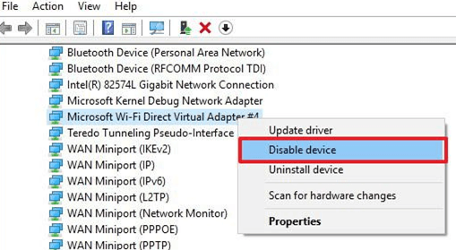 Remove-microsoft-wifi-direct-virtual-adapter-select-disable-device-option