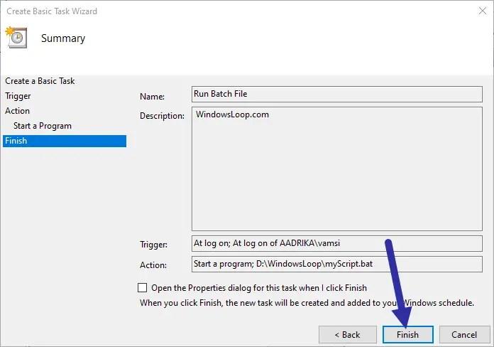 Schedule-batch-file-click-finish