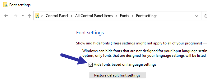 Show-or-hide-fonts-windows-select-checkbox