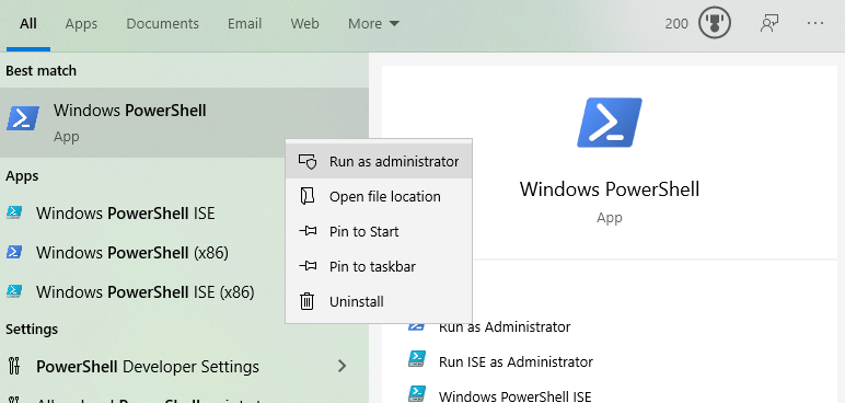 Powershell-command-driver-list-windows-open-as-admin