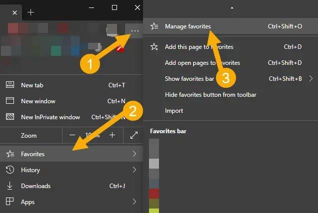 Export-edge-favorites-manage-favorites