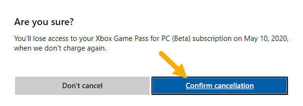 Steps-to-cancel-xbox-game-pass-subscription-confirm