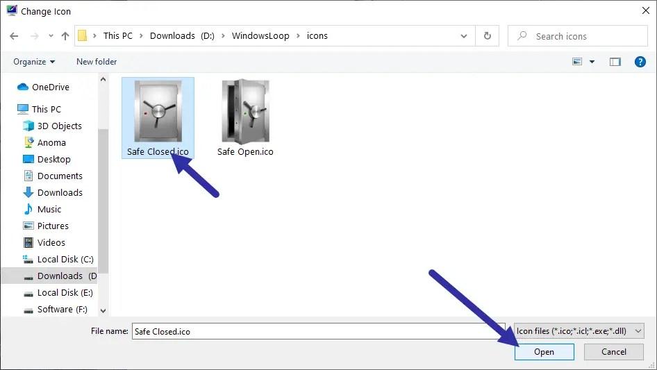 Windows 10 recycle bin - select full icon-min