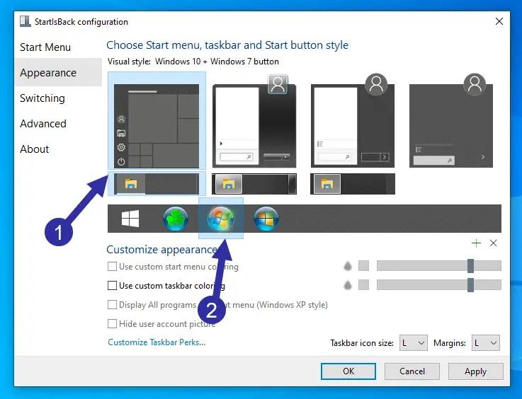 Change-start-button-icon-windows-10-select-preset-icon