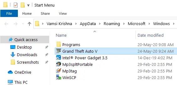 Epic - copy shortcut to start menu folder