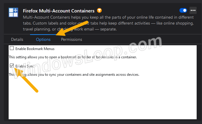 Enable-firefox-containers-sync-200620