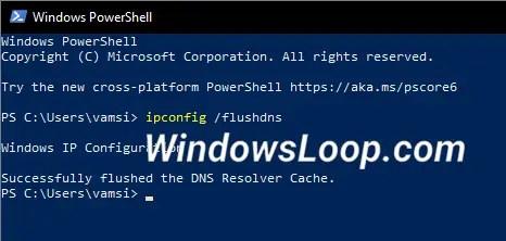 Flush-dns-powershell-command-250720