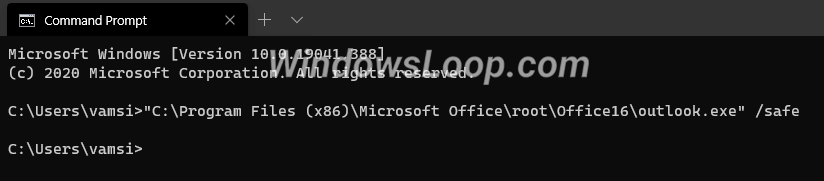 Open-outlook-in-safe-mode-from-cmd-160720