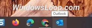 Outlook-icon-on-taskbar-160720