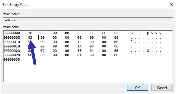use registry to unhide taskbar in windows