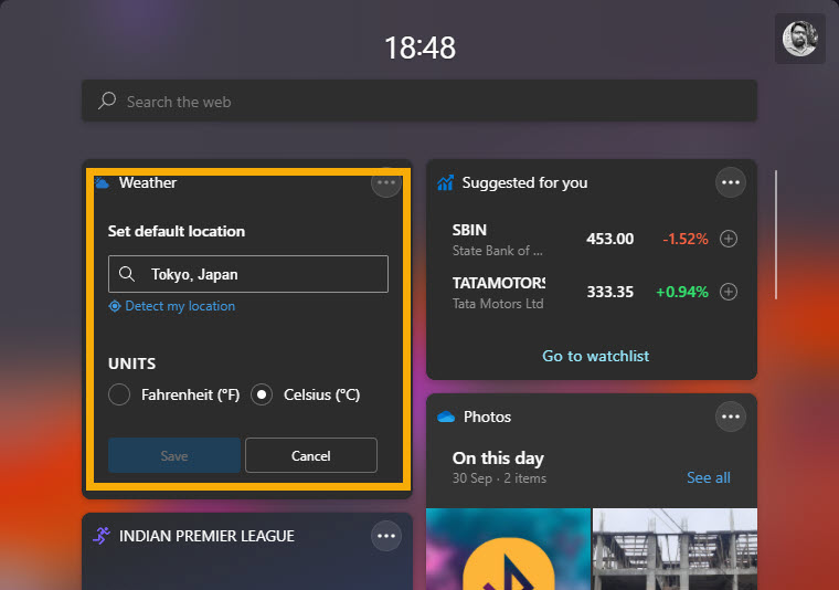 widget customization options