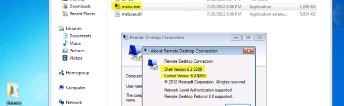 Getting the New Windows 8 Remote Desktop client on your Windows 7