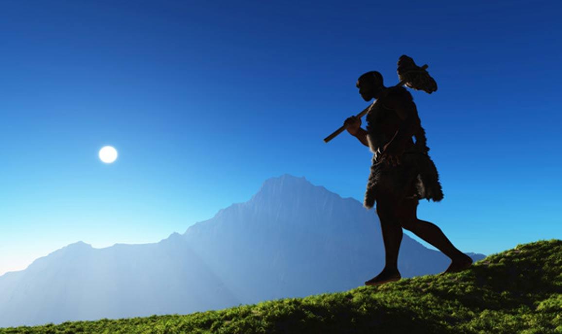 manusia prasejarah dengan alat serpih