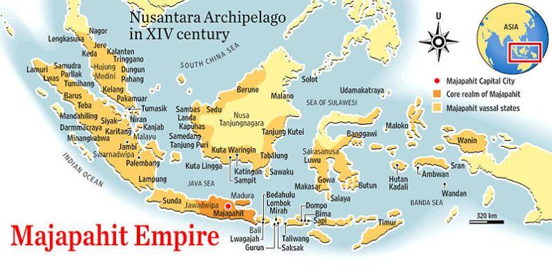 peta kerajaan majapahit di nusantara