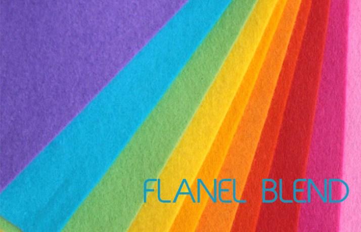 jenis kain flanel blend