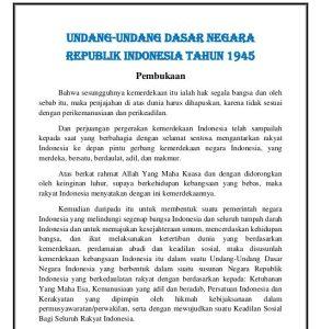 Read more about the article Pembukaan UUD 1945 / Pembukaan Undang-undang Dasar Lengkap