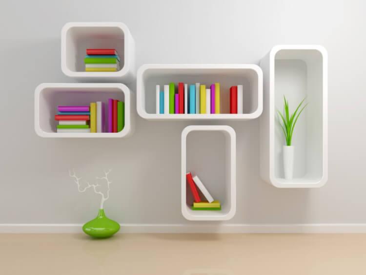 Model Rak Buku kayu