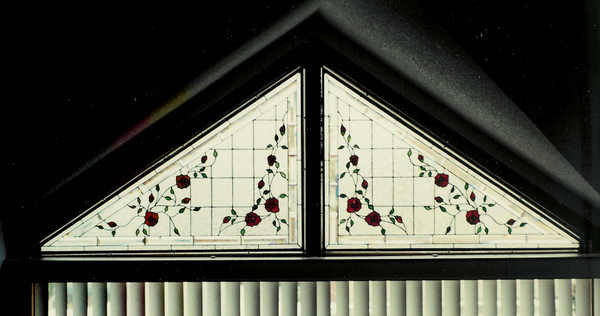 Beveled Rose Triangle Windows Windows Of The West Windows Of The West