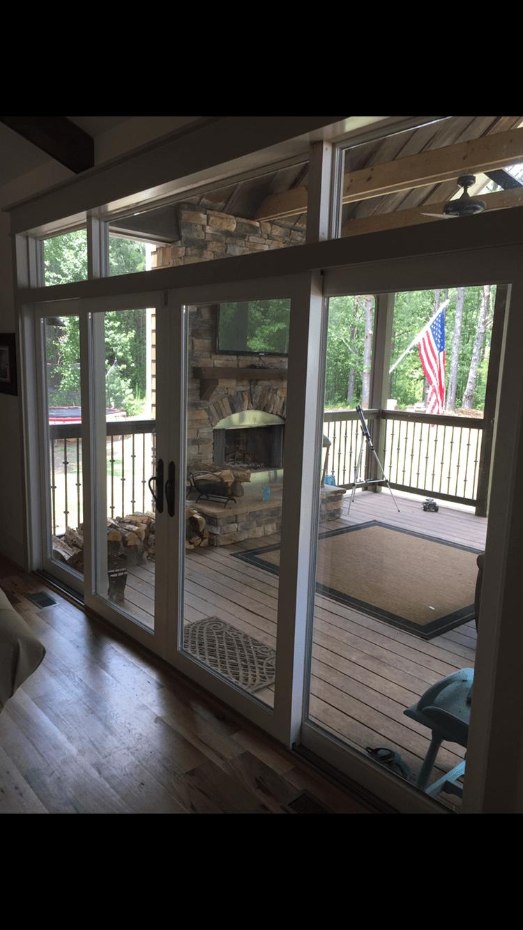 4 panel sliding glass door peachtree